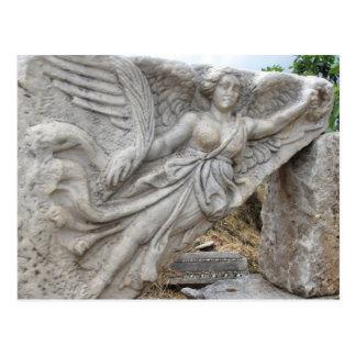 Greek Goddess Nike at Ephesus, Turkey Postcard