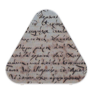 greek greece ancient hand writing text letters ink bluetooth speaker