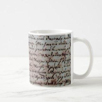greek greece ancient hand writing text letters ink coffee mug