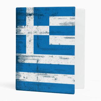 Greek grunge Flag Mini Binder