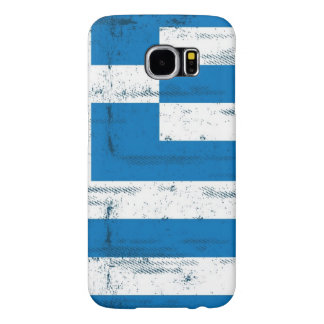 Greek grunge Flag Samsung Galaxy S6 Case