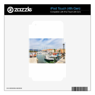 Greek harbor with sailing boats in Fiskardo Skin For iPod Touch 4G