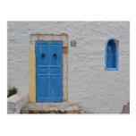 Greek house post card