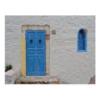Greek house postcard