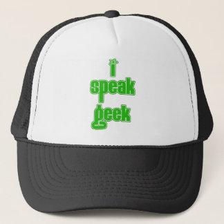Greek I Speak Geek Trucker Hat