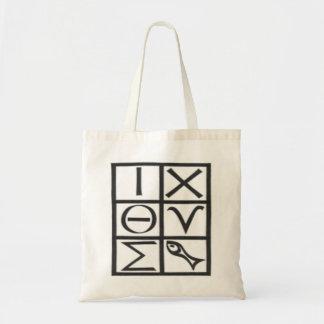 Greek ICQUS (fish) Budget Tote Bag