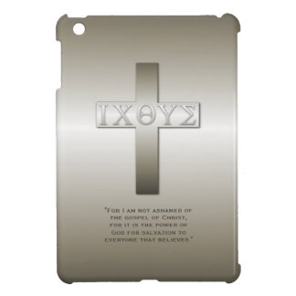 Greek Icthys Cross with Bible Verse iPad Mini Cover