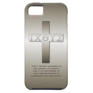 Greek Icthys Cross with Bible Verse iPhone SE/5/5s Case
