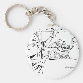Greek in in service table offering table keychain