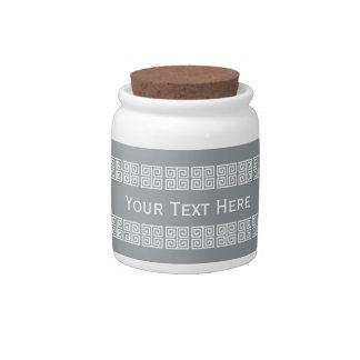 Greek-Inspired custom candy jar
