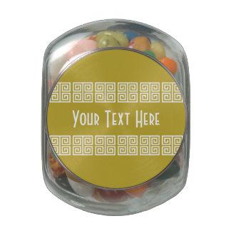 Greek-Inspired custom tins & jars Jelly Belly Candy Jar