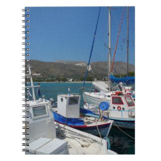 Greek Island Harbour Notebook