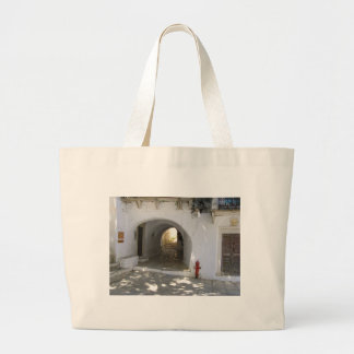 Greek Island Large Tote Bag