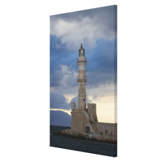 Greek Island of Crete and old town of Chania 2 Stretched Canvas Print