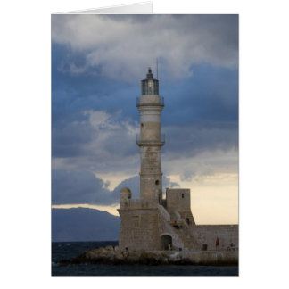 Greek Island of Crete and old town of Chania 2 Greeting Card