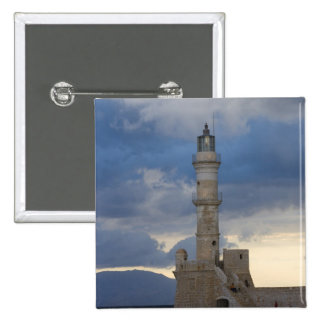 Greek Island of Crete and old town of Chania 2 Pinback Button