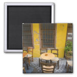Greek Island of Crete and old town of Chania 3 2 Inch Square Magnet