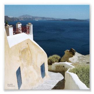 Greek island Santorini print
