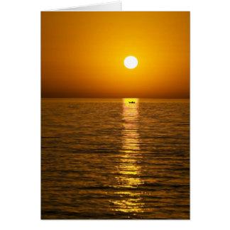 greek island sunset card