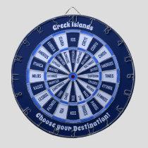 Greek Islands Dartboard