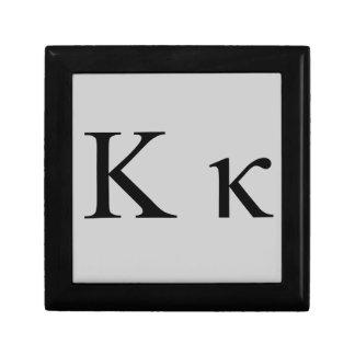 Greek Kappa Keepsake Box