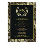 Greek key and laurel wreath wedding couples shower 5x7 paper invitation card