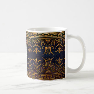 Greek Key and Lotus Flower-gold Coffee Mug
