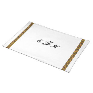 Greek Key and Monogram Placemat