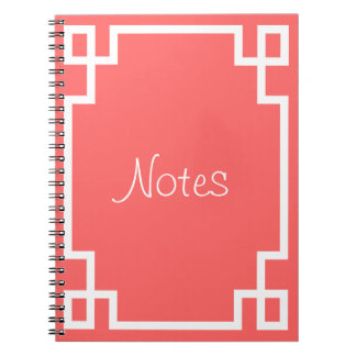 Greek Key (Change to any color!) Spiral Note Books