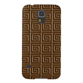 Greek Key design - dark chocolate Case For Galaxy S5