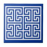 """Greek Key Design Tile<br><div class=""""desc"""">Greek Key Pattern. Cobalt blue and white.</div>"""