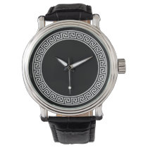 Greek Key Design Wristwatch