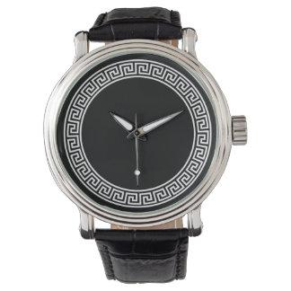 Greek Key Design Wristwatch