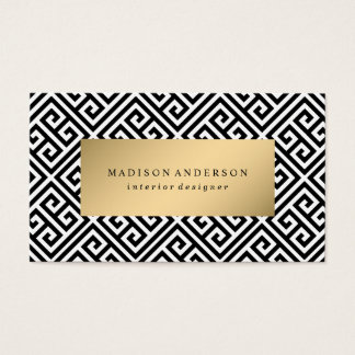 Greek Key in Gold | Business Cards