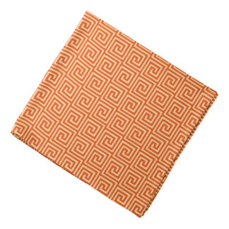 Greek Key, mandarin orange Bandana