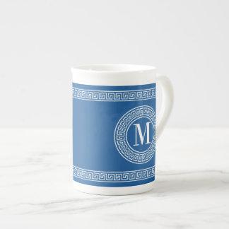 Greek Key Monogram China Specialty Mugs