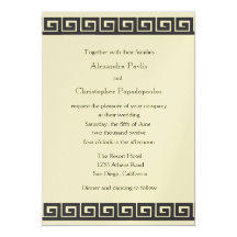 Greek Wedding Invitations