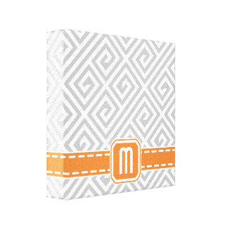 Greek Key Pattern Custom Premium Wrapped Canvas Canvas Print