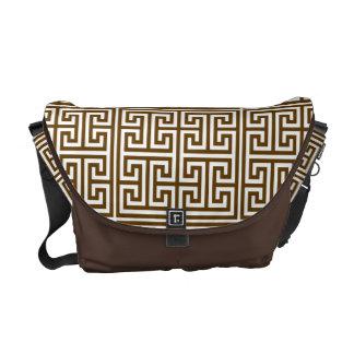 Greek Key Pattern Messenger Bag