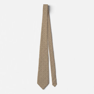 Greek Key, shades of taupe tan Neck Tie