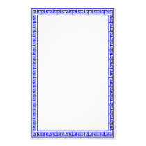 Greek Key Stationary-Blue Stationery