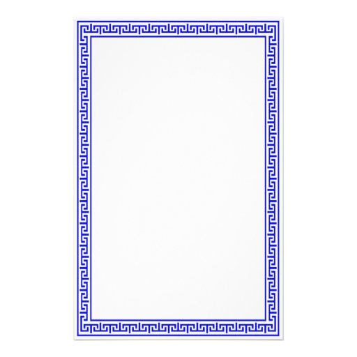 Greek Key Stationary Blue Stationery Design