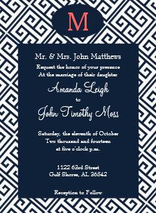 Greek Key Invitations