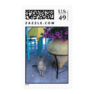 Greek Kitty Postage