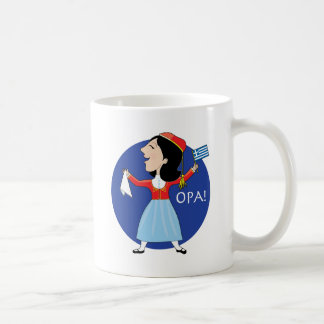 Greek Lady Dancing Classic White Coffee Mug