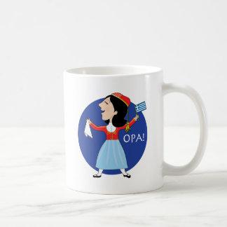 Greek Lady Dancing Coffee Mug