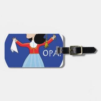 Greek Lady Dancing Luggage Tag