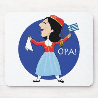 Greek Lady Dancing Mouse Pad
