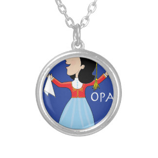 Greek Lady Dancing Personalized Necklace