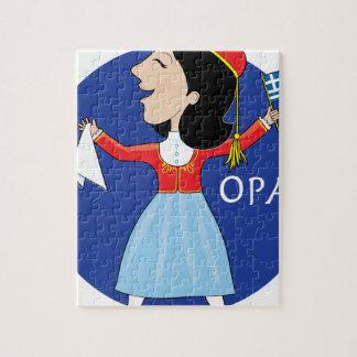Greek Lady Dancing Jigsaw Puzzles